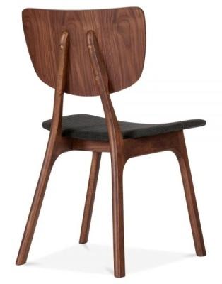 Polly Dining Chair Dark Grey Fabric Rear Angle