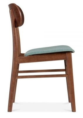 Ontario Designer Fdining Chair With A Teal Seat Side View