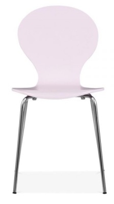 Butterfly Chair Pink Finish Front View