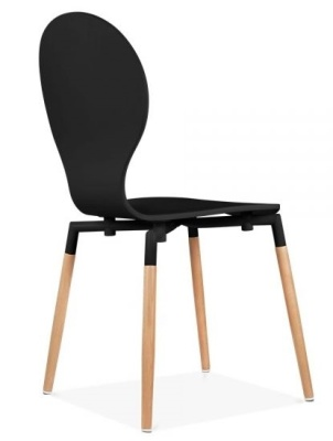Butterfly Nouveau Chair In Black Rear Angle