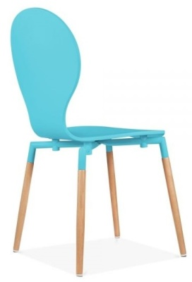 Butterfly Nouveau Chair Sky Blue Rear Angle