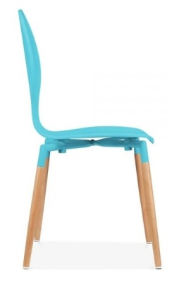 Butterfly Nouveau Chair Sky Blue Side View