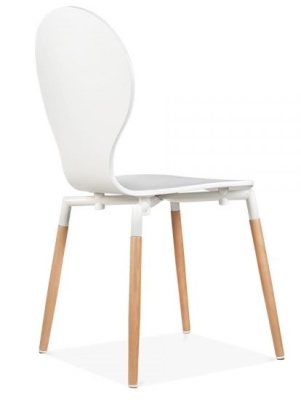 Buterfly Nouveau Chair In White Rear Angle