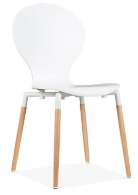 Buterfly Nouveau Chair In White Front Angle