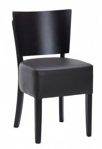 Weston Dining Chair Dark Brown Wieth A Wenge Frame