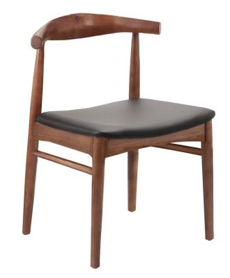 Elbow Chair With A Walnut Frame