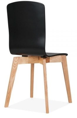 Montrose Dining Chair In Black Rear Angle