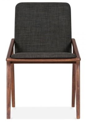 Welbeck Chair Dark Grey Fabric Front Shot