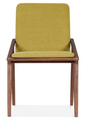Welbec Chair Olive Fabric Front View