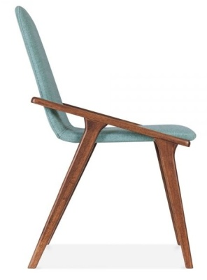 Welbec Chair Teal Fabric Side View