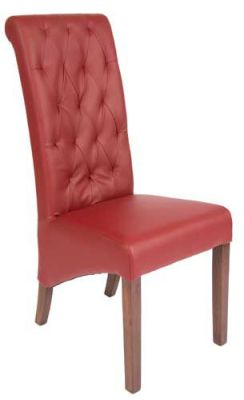 Eton Leather Chair Wine Front View