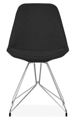 Geometric Chair Black Fabric Front View