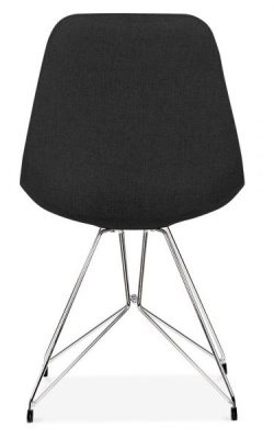 Geometric Chair Black Fabric Rear View