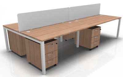 Star Four Person Bench, Pedestal And Screen Package