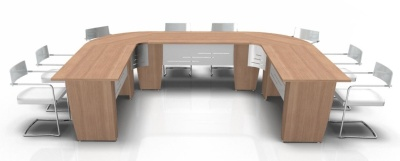 Select U Shaped Table With Modesty Panels