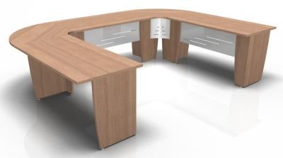 Select U Shaped Modular Table Side View