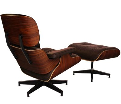 Eames BROWN ROSEWOOD BACK ANGLE