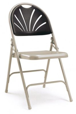 Euro Folding Chair Charcoal Back