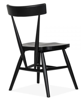 Trapeze Wooden Chair Rear Angle