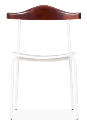 Alilsa Dining Chair In White Front Shot