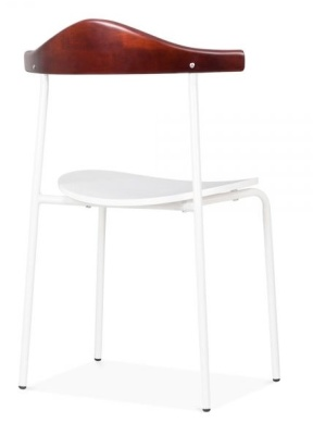 Alisas Dining Chair In White Rear Angle