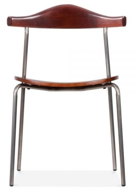 Alisa Chair Gunmetal Front Face