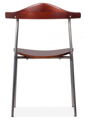 Alisa Dining Chair With A Gun Metal Finissh Rear Face