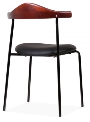 Alisa Chair Faux Leather Seat Rear Angle