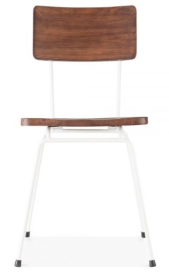 Sequel Dining Chair With A White Frame Face View