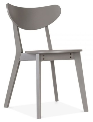 Joshua Dining Chair In Grey Front Angle Shot