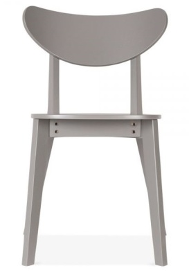 Joshua Dining Chair In Grey Front Face View