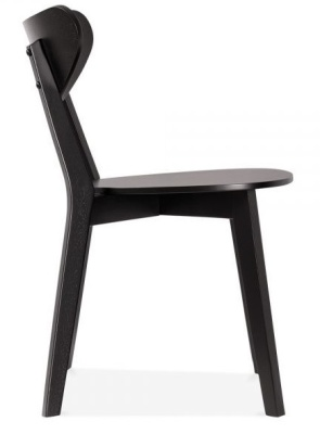 Joshua Black Chair Side View