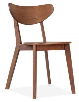 Joshua Chair Walnut Finish Front Angle
