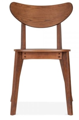 Johua Dining Chair In Walnut Front Shot