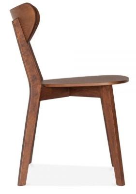 Joshua Chair In Walnut Side View