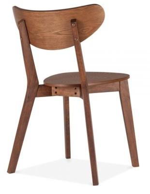 Joshua Chair In Walnut Rear Angle