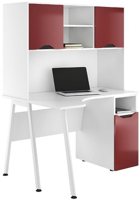 Aspire Reflections Corner Desk With Desk Cupboard And Overhead Cvupboarddss