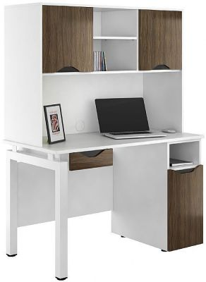 Uclic Engage Refelctions Desk With Darawer Desk Cupboard And Overhead Cupboards