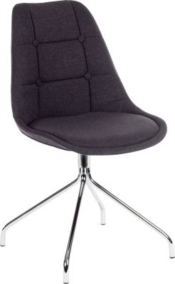 Metz Four Star Chair Graphite Fabric Angle Shot