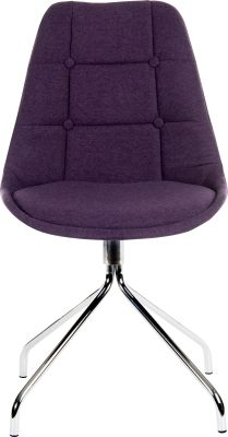 Metz Four Star Chair Plum Fabric Front Shot