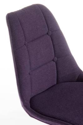 Metz Four Str Chair Plum Fabric Detail Shot