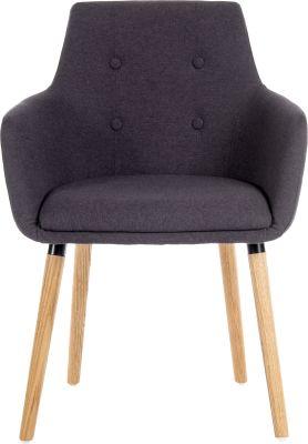6929 4 Legged Chair Graphite - Front Shot (3)