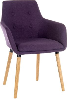 Metz Fopur Leg Chair Plum Fabric Angle Shot