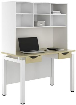 UCLIC Engage Sylvan Desk With Overhead Shelving And Two Drawers