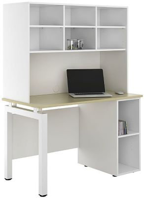 UCLIC Engage Sylvan Desk With Base Unit And Open Shelving