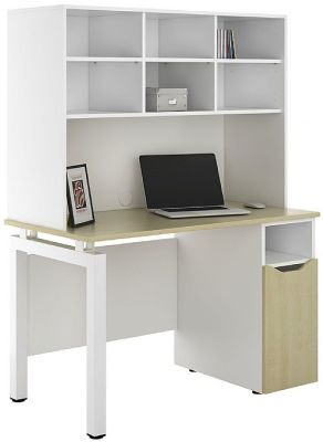 UCLIC Desk With Under Desk Cupboard And Overhead Shelving