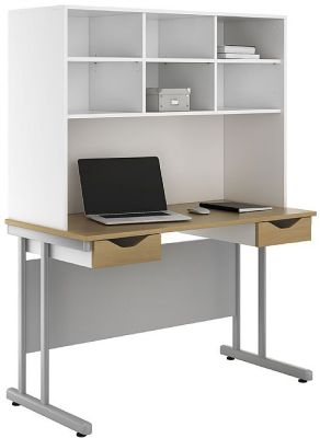 UCLIC Create Two Drawer Desk And Shelving 1