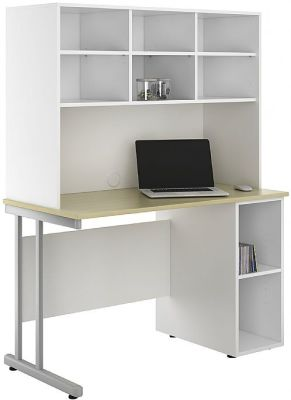 Uclic Create Sylvan Desk With Open Cupboard And Shelving