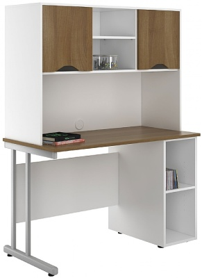 Uclic Create Sylvan Desks With Base Unit And Overhead Cupboards