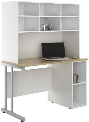 UCLIC Create Sylvan Desk With Base Unit And Overhead Cupboards 3